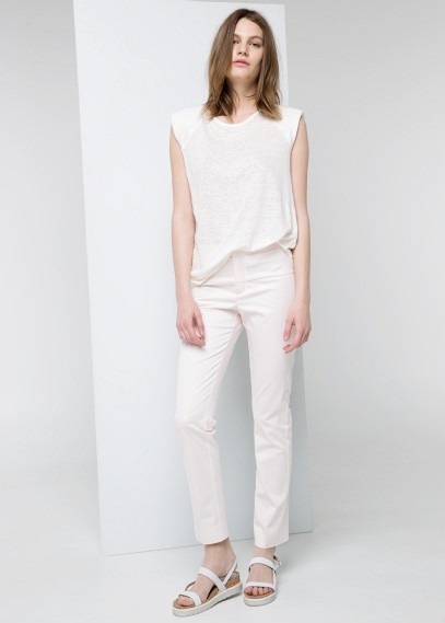 MANGO Outlet Stretch Cotton Trousers