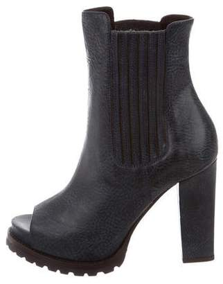Brunello Cucinelli Peep-Toe Ankle Boots w/ Tags