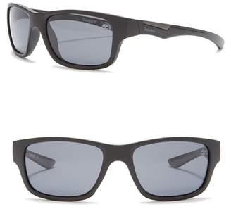 Timberland Polarized 57mm Wrap Sunglasses