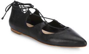 Loeffler Randall Ambra Leather Lace-Up Flats $295 thestylecure.com