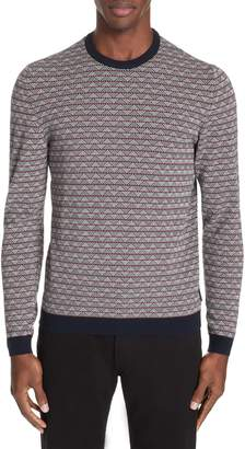 Emporio Armani Microjacquard Crewneck Sweater