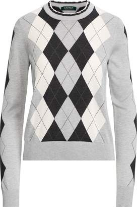 Ralph Lauren Argyle Silk-Blend Sweater