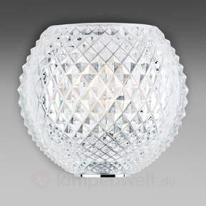 Gemusterte Kristall-Wandleuchte Diamond and Swirl