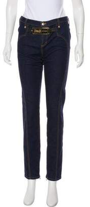 Dolce & Gabbana Mid-Rise Logo Jeans
