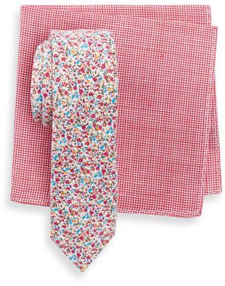 Original Penguin Daisy Floral Slim Tie & Pocket Square Set $65 thestylecure.com