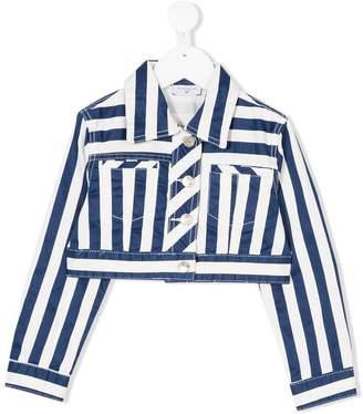 MonnaLisa cropped striped denim jacket