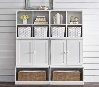 Pottery Barn Kids Cameron 2 Cubbies, 2 Cabinets, & 2 Open Bases, Simply White, UPS