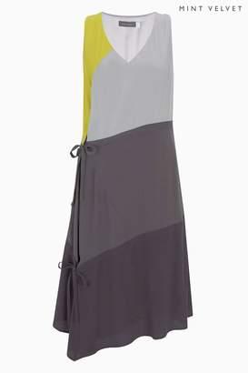 Next Womens Mint Velvet Grey Blocked Strap Trapeze Dress
