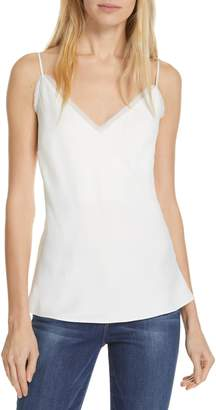 Frame Fray Edge Satin Camisole