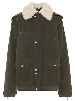 Saint Laurent Fur-trimmed cotton jacket