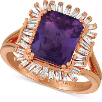 LeVian Le Vian Deep Sea Blue Topaz (3-1/3 ct. t.w.) & Diamond (1/3 c.t. t.w.) Ring in 14k Rose Gold (Also available in Amethyst)