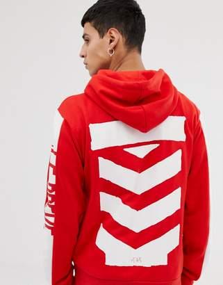Le Breve stencil back print hoodie