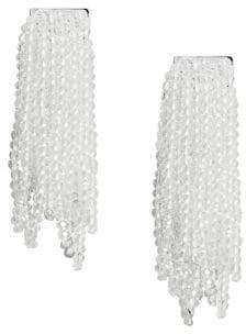 MANGO Florida Beaded Tassel Earrings