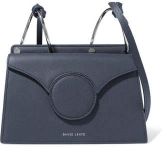 Danse Lente Phoebe Mini Textured-leather Shoulder Bag - Navy