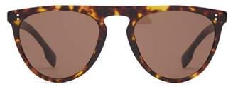 Burberry D Frame Tortoiseshell Acetate Sunglasses - Mens - Brown