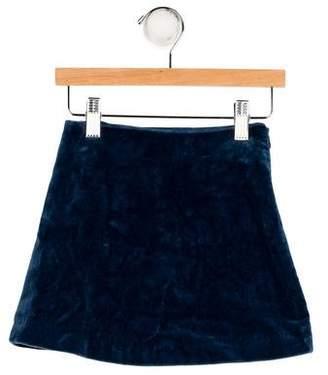 Papo d'Anjo Girls' Mini Velvet Skirt