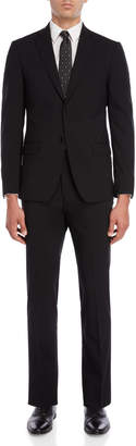 John Varvatos Black Wool Suit