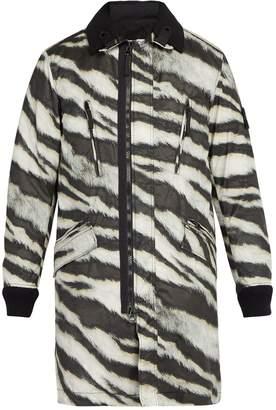 Stone Island Tiger-print detachable-fleece technical jacket