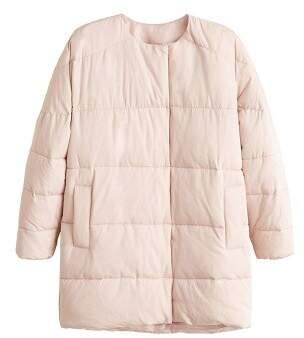 MANGO Satin quilted jacket