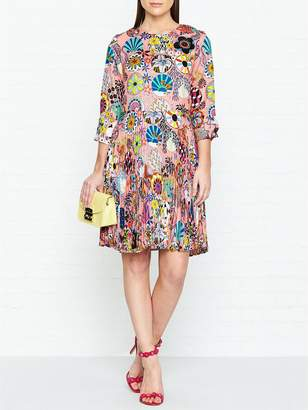 Paul Smith Enso Floral Print Pleated Dress - Pink