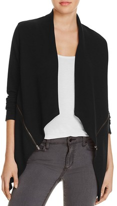 Red Haute Ribbed Zip Vent Cardigan $128 thestylecure.com
