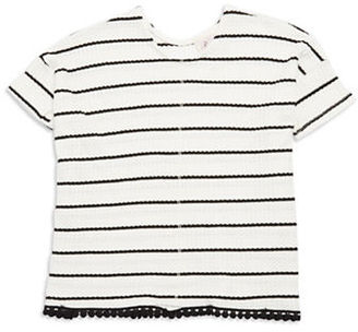 Love Daisy Girls 7-16 Striped Pom-Pom Top $30 thestylecure.com