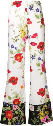 Blugirl floral flared trousers