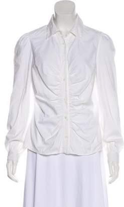 Prada Long Sleeve Button-Up Blouse