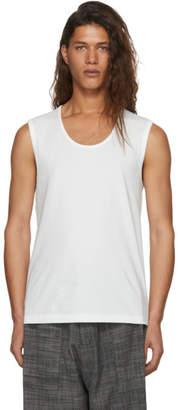 Issey Miyake White Bio Logo Tank Top