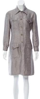 Bill Blass Long Sleeve Knee-Length Dress