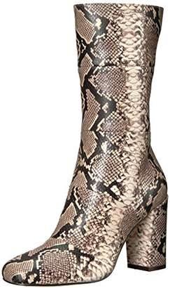 The Fix Women's Skylar Mid-Shaft Material-Block Boot