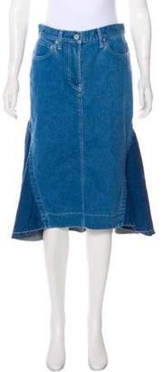 Sacai Denim Knee-Length Skirt