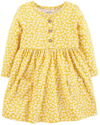 Carter's Long Sleeve A-Line Dress - Baby Girls