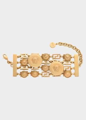 Versace Medusa Medallion Greca Chain Bracelet