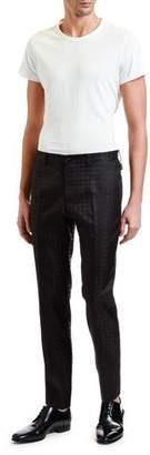 Dolce & Gabbana Men's Silk Tonal Jacquard Evening Pants