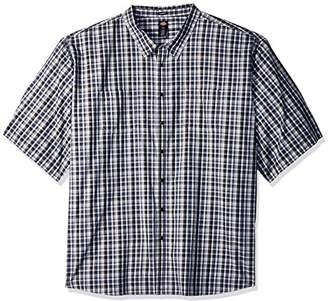 Dickies Men's Yarn Dyed Plaid Short Sleeve Shirt 6X Big-Tall