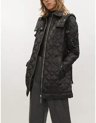 Burberry Baughton diamond-quilted shell parka coat