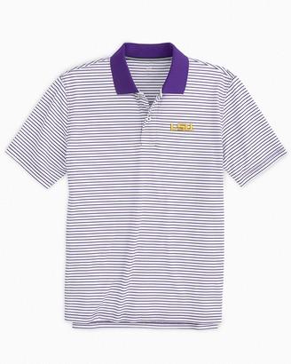 Southern Tide LSU Tigers Pique Striped Polo Shirt