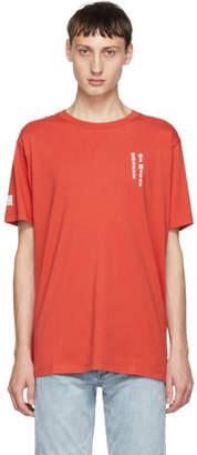 Marcelo Burlon County of Milan Red Skull Tattoo T-Shirt