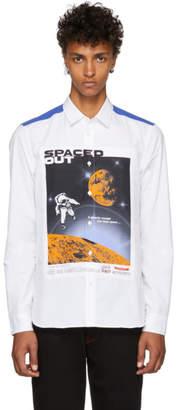 Kenzo White and Blue Artwork Shirt