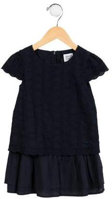 Armani Junior Girls' Broderie Anglaise Heart Dress w/ Tags