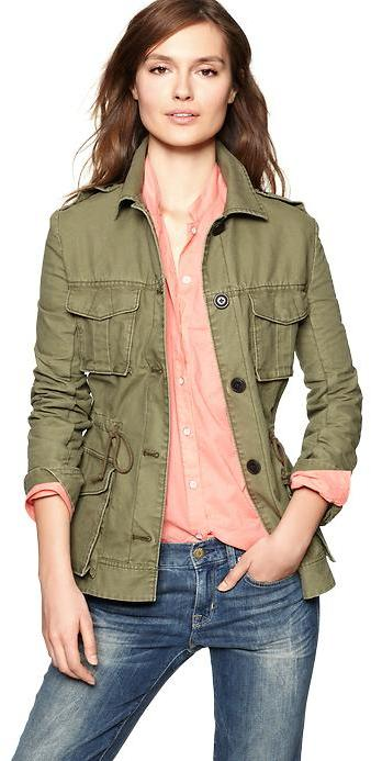 Canvas military jacket