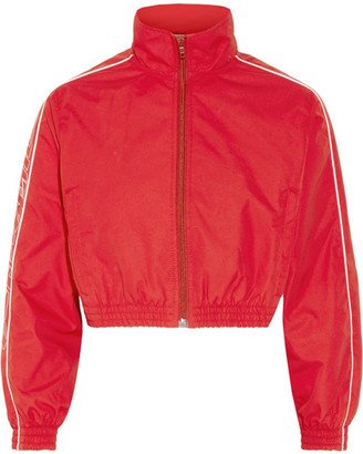 Vetements - Cropped Shell Jacket - Red $1,185 thestylecure.com