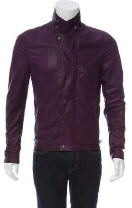 Bottega Veneta Zip-Accented Leather Jacket