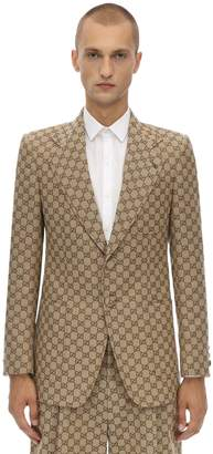 Gucci Gg Cotton Blend Canvas Jacket