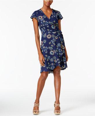 G.h. Bass & Co. Floral-Print Wrap Dress $89 thestylecure.com