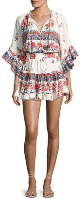 MISA Los Angeles Ximena Ruffled Floral-Print Mini Dress $348 thestylecure.com