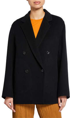 Vince Wool-Blend Double-Breasted Cardigan Coat