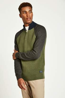 Jack Wills Glenbridge Half Zip Colour Block Jumper