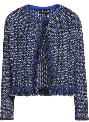 Maje Fringed Metallic Bouclé-Knit Jacket